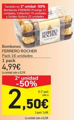Oferta de Bombones FERRERO ROCHER  por 4,99€