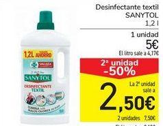 Oferta de Desinfectante textil Sanytol por 5€