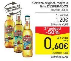 Oferta de Cerveza original, mojito o lima DESPERADOS  por 1,2€