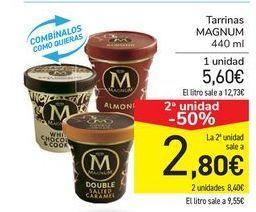Oferta de Tarrinas MAGNUM por 5,6€