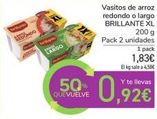 Oferta de Vasitos de arroz redondo o largo BRILLANTE XL por 1,83€