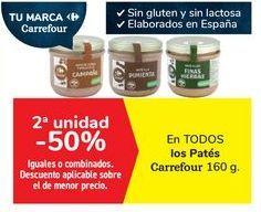 Oferta de En TODOS los Patés Carrefour por