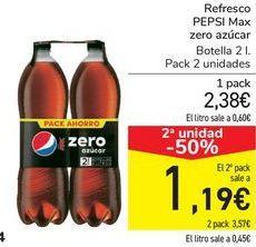 Oferta de Refresco PEPSI Max Zero azúcar  por 2,38€