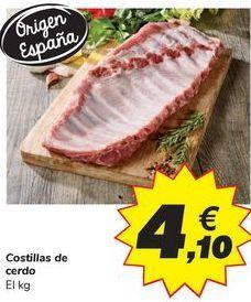 Oferta de Costillas de cerdo por 4,1€