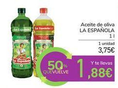 Oferta de Aceite de oliva LA ESPAÑOLA por 3,75€