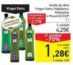 Oferta de Aceite de oliva Virgen Extra, Hojiblanca, Arbequina o Picual DCOOP por 4,25€