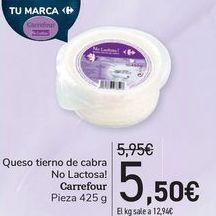 Oferta de Queso tierno de carba No Lacotsa! Carrefour  por 5,5€