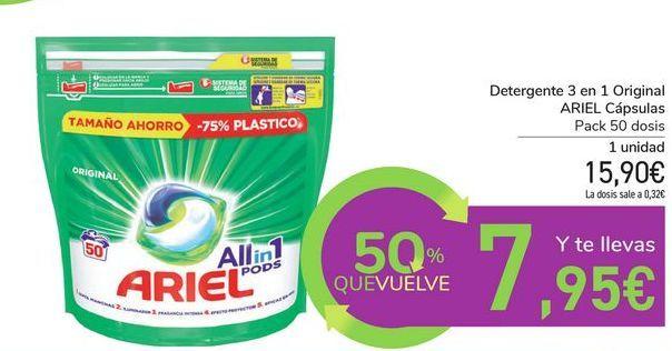 Oferta de Detergente 3 en 1 Original ARIEL Cápsulas  por 15,9€