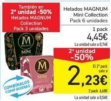 Oferta de Helados MAGNUM Mini Collection por 4,45€