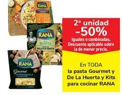 Oferta de En TODA la pasta Gourmet y De La Huerta y Kits para cocinar RANA por