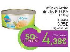 Oferta de Atún en Aceite de oliva RIBEIRA por 8,75€