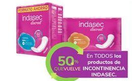 Oferta de En TODOS los productos de INCONTINENCIA INDASEC por