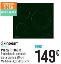 Oferta de Placa RI 360 C INDESIT por 149€