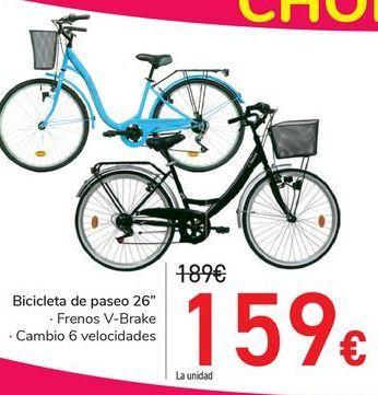 Oferta de Bicicletas de paseo 26'' por 159€