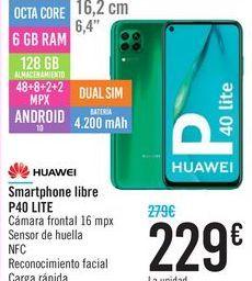 Oferta de Smartphone libre P40 LITE HUAWEI por 229€