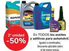 Oferta de En TODOS los aceites y aditivos para automóvil, iguales o combinados  por