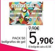 Oferta de PACK 50 Bolígrafos de gel  por 5,9€