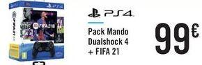 Oferta de Pack Mando Dualshock 4 + FIFA 21 por 99€