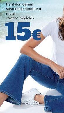 Oferta de Pantalón denim sostenible hombre o mujer  por 15€