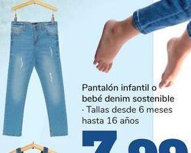 Oferta de Pantalón infnatil bebé denim sostible  por 7,99€