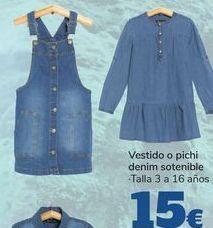 Oferta de Vestido o pichi denim sostenible  por 15€