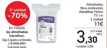 Oferta de En TODAS las almohadas Carrefour por 11€