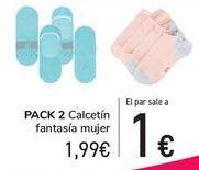 Oferta de PACK 2 Calcetín fantasía mujer  por 1,99€