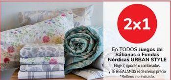 Oferta de En TODOS los juegos de sábanas o fundas nórdica URBAN STYLE por
