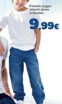 Oferta de Pantalón jogger infantil denim sostenible  por 9,99€