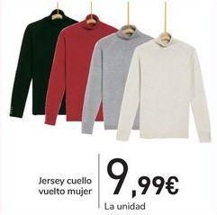 Oferta de Jersey cuello vuelto mujer  por 9,99€