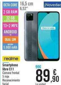 Oferta de Smartphone libre C11  por 89,9€