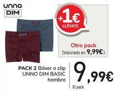 Oferta de PACK 2 Bóxer o slip UNNO DIM BASIC  por 9,99€