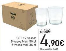 Oferta de SET 12 vasos por 4,9€