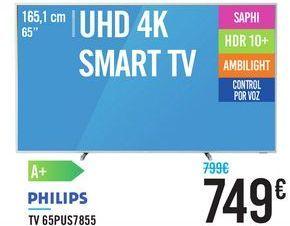 "Oferta de TV 65"" UHD 4K SMART TV 65PUS7855 PHILIPS por 749€"