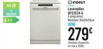 Oferta de Lavavajillas DFC2C24 A INDESIT por 279€