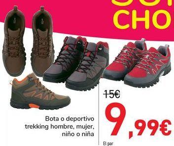 Oferta de Bota o deporte trekking hombre, mujer, niño o niña  por 9,99€
