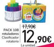 Oferta de PACK 108 Rotuladores  por 12,9€