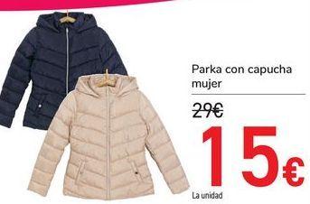 Oferta de Parka con capucha mujer  por 15€