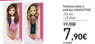 Oferta de Muñeca rubia o peliroja AIMANTINE por 7,9€