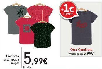 Oferta de Camiseta estampada mujer  por 5,99€