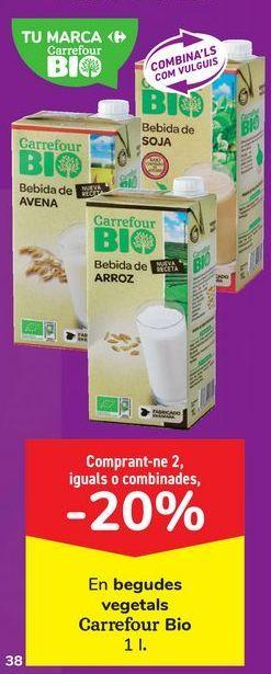 Oferta de En bebidas vegetales Carrefour Bio por