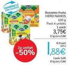 Oferta de Bolsitas fruta HERO NANOS por 3,75€