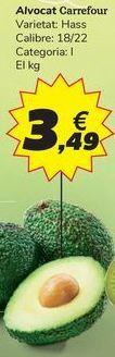 Oferta de Aguacate Carrefour por 3,49€