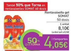 Oferta de Lavavajillas gel SOMAT por 8,1€