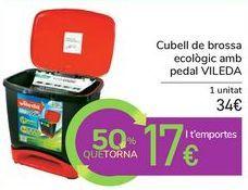 Oferta de Cubo de basura ecológico con pedal VILEDA por 34€