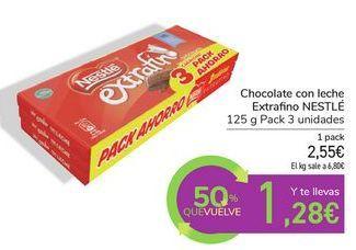 Oferta de Chocolate con leche Extrafino NESTLÉ por 2,55€