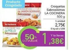 Oferta de Croquetas Sabrosísimas LA COCINERA por 2,75€