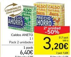 Oferta de Caldos ANETO por 6,4€