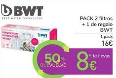 Oferta de PACK 2 filtros + 1 de regalo BWT por 16€