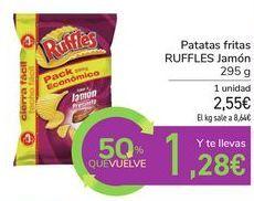 Oferta de Patatas fritas RUFFLES Jamón por 2,55€
